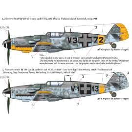 32055 Messerschmitt Bf 109 G-6 G-14 (V3+72 ; W1+13) decal sheet 1:32