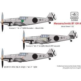 32060 Messerschmitt Bf 109 A decal sheet 1:32