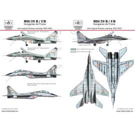 32063 MiG-29 in Hungarian service old painting decal sheet 1:32