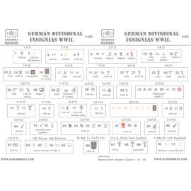 035035 German ww2  Division Symbols ( Dubble sheet) (decal code: 35035) dec