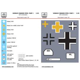 035036 German ww 2 Crosses part 1 with number plates decal sheet 1:35