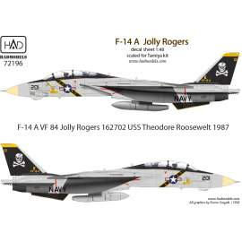 72196 F-14A VF-84 Jolly Rogers /162702/ USS Theodore Roosewelt 1987 decal s
