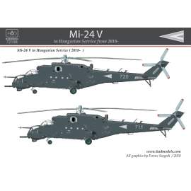 72198 Mi-24 V in Hungarian service from 2018 matrica 1:72