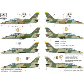 72202 L-39 Hungarian with DDR  painting decal sheet  1:72
