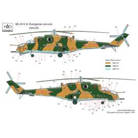 "72200 Mi-24 V / D ""Eagle killers"" with NATO stencils  decal sheet 1:72"