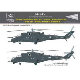 35008 Mi-24 V  + extra Stencils /dubble decal sheet 1:35  PREORDER