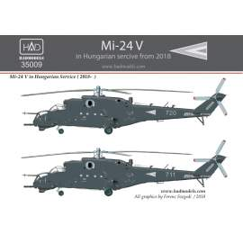 35009 Mi-24V NATO grey painting 2018 decal  sheet 1:35