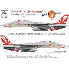 "32065 F-14A ""Miss Molly"" 2db matrica lap 1:32"