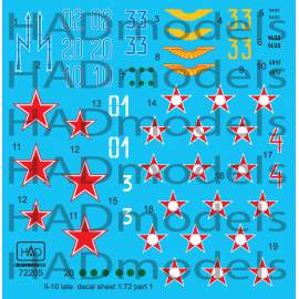 "72205 IL-10 ""late"" part 1 decal sheet 1:72"