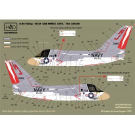 "72213 S-3A Viking ""USS NIMITZ"" 1976-78-80  decal sheet 1:72 PREORDER"