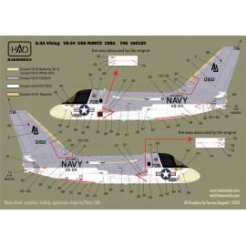 "72213 S-3A Viking ""USS NIMITZ"" 1976-78-80  stencilekkel matrica 1:72"