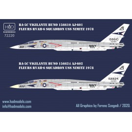 72220  RA-5C Vigilante USS NIMITZ 1978   / part 3 decal sheet 1:72