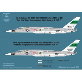 72215 RA-5C Vigilante USS NIMITZ 1976-77 / part 2 decal sheet 1:72