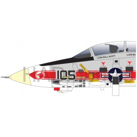 72218 F-14A VF-1 Wolfpack USS Enterprise decal sheet 1:72