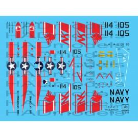 72218 F-14A VF-1 Wolfpack USS Enterprise matrica 1:72