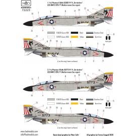 "72223 F-4J Phantom II "" Be-devilers""  USS NIMITZ 70´s decal sheet 1:72"