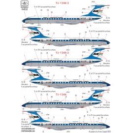144058 Tu-134  Tu-134A  Tu-134A-3 MALÉV decal sheet for Zvezda kit 1:144
