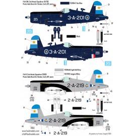 72229 F4U-5N / NL Argentine Naval Corsairs decal sheets 1:72