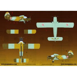 72126 An-2 decal sheet 1:72