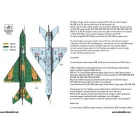 """72234 MiG-21 MF 9309 """"Dongó"""" Századjelzéses Csillagos felségjellel 1:72"""