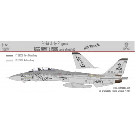 32072 F-14A VF-84 Jolly Rogers low visibility USS NIMITZ matrica 1:32