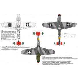 48064 Messerschmitt Bf 109 F-4 yellow 17, V-+03, V-+07, yellow 7 matrica 1:48