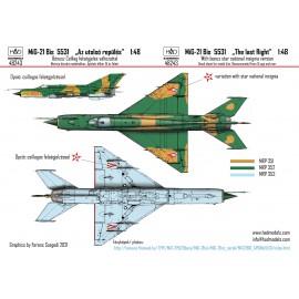 48243 MiG-21 Bis 5531 HUNAF  matrica 1:48