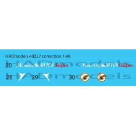 48227 Messerschmitt Bf 108 Taifun matrica 1:48