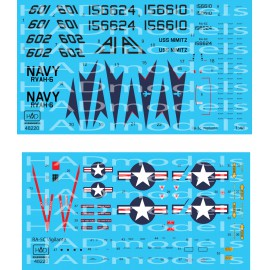 48220 RA-5C Vigilante USS NIMITZ matrica1:48