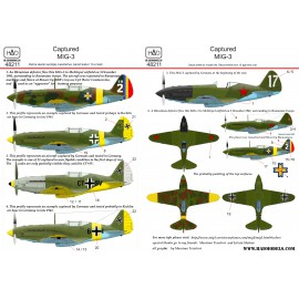 48211 Captured MiG-3 matrica 1:48