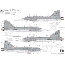 "48209 Jas 39 Gripen ""Tigermeet"" matrica 1:48"