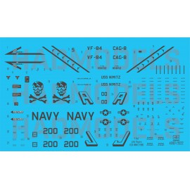 48197 F-14A VF-84 Jolly Rogers 200 low visibility  matrica 1:48