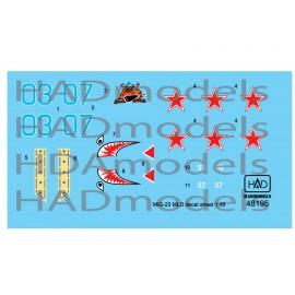 48195 MiG-23 MLD Agressors ( 07; 03) matrica 1:48