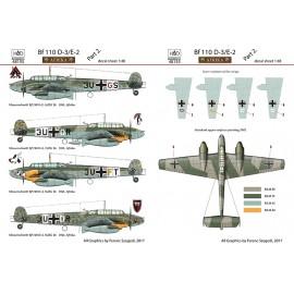 """48155 Bf 110 D-3/E-2 """"Africa"""" part 2 matrica 1:48"""