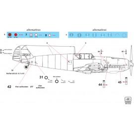 48153 Bf 109 E Full stencil sheet  1:48