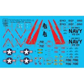 """72241  S-3A Viking """"A végső visszaszámlálás"""" matrica 1:72"""