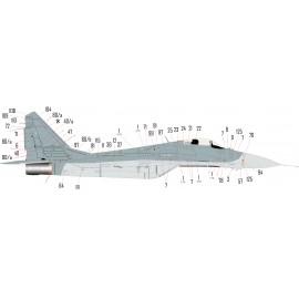 48239 MiG-29 Nato stencil matrica 1:48 ELŐRENDELÉS
