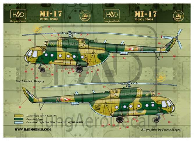 72093 Mi-17 matrica 1:72