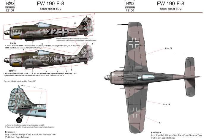 72106 FW 190 F-8 matrica 1:72