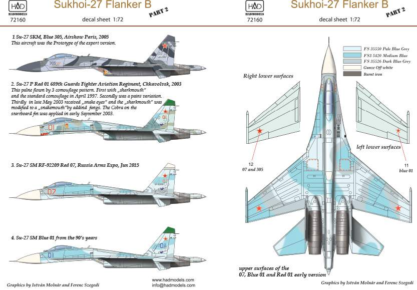 72160 Su-27 Flanker B decal sheet 1:72