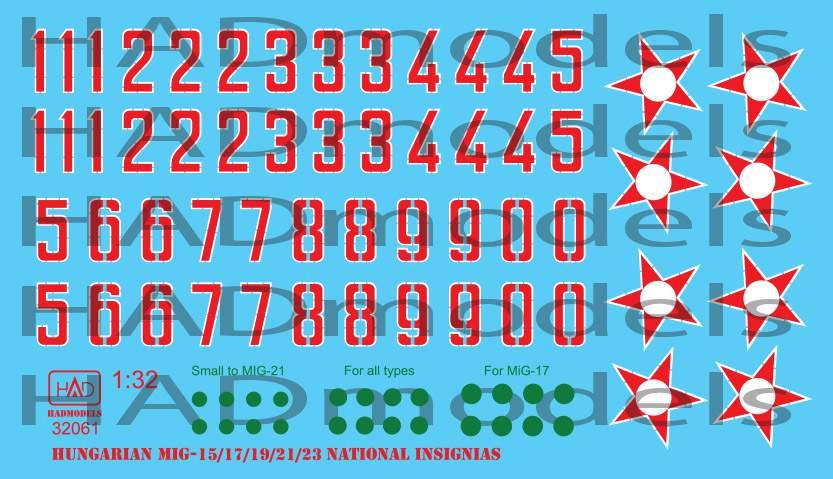 32061 Hungarian National insignias (1950-1990) decal sheet 1:32