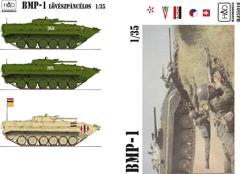 035018 extended version  BMP1 (Hungarian markings, Czech, Slovak, Irak) dec