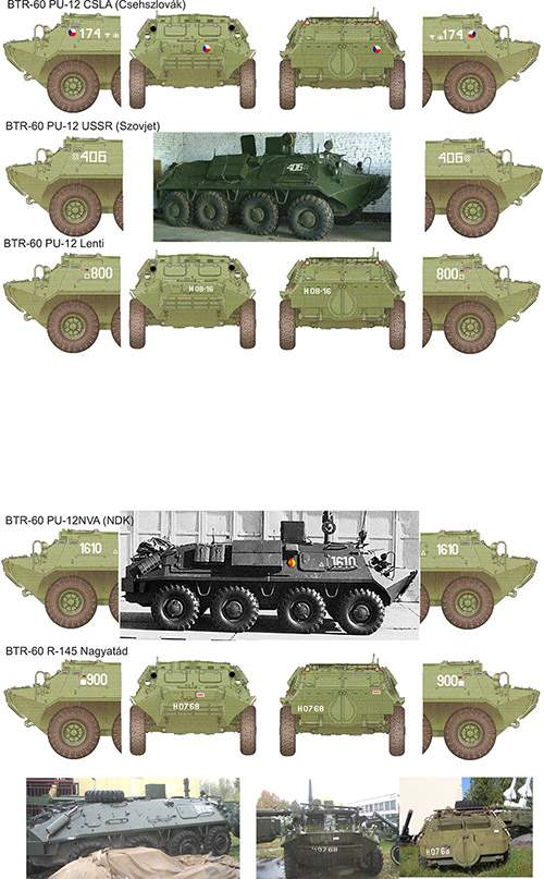 035019 BTR 60 ( Czech, East-Germany Hungarian) decal sheet 1:35