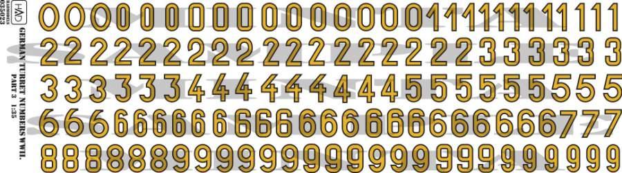 035023 német II VH-s számok 1:35