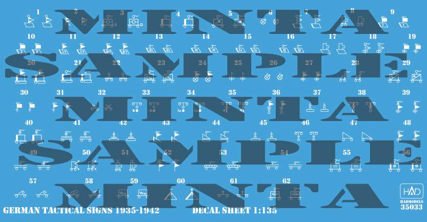 035033 German Tactical insignias 1935-1942 (decal code: 35033) decal sheet