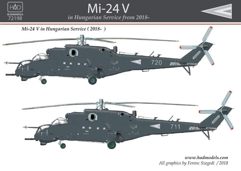 72198 Mi-24 V in Hungarian service from 2018 matrica 1:72