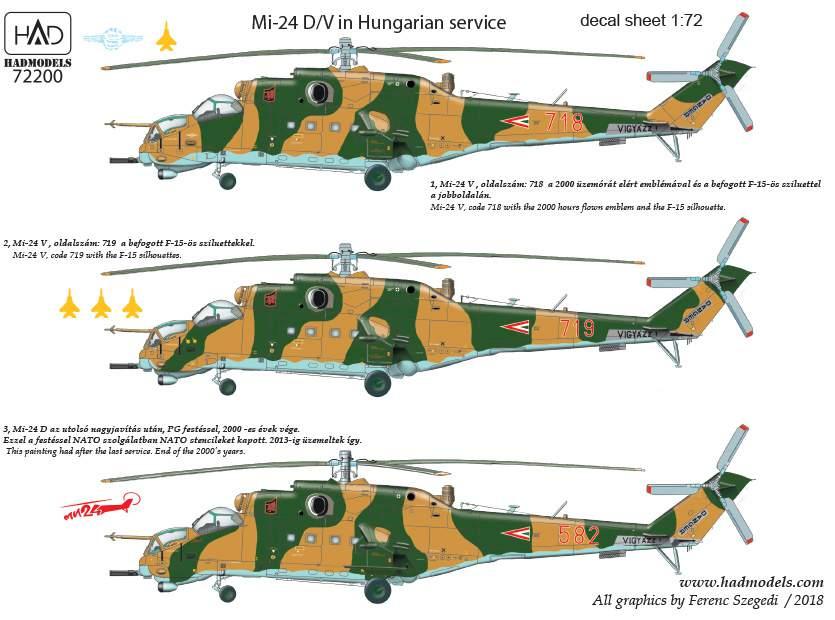 "72200 Mi-24 V / D ""Eagle killers"" with NATO stencils  decal sheet 1:72"