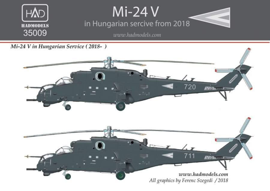 35009 Mi-24V NATO grey painting 2018 decal  sheet 1:35
