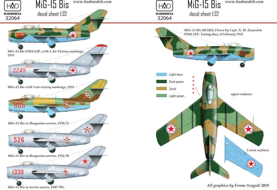 32064 MiG-15 bis martrica 1:32