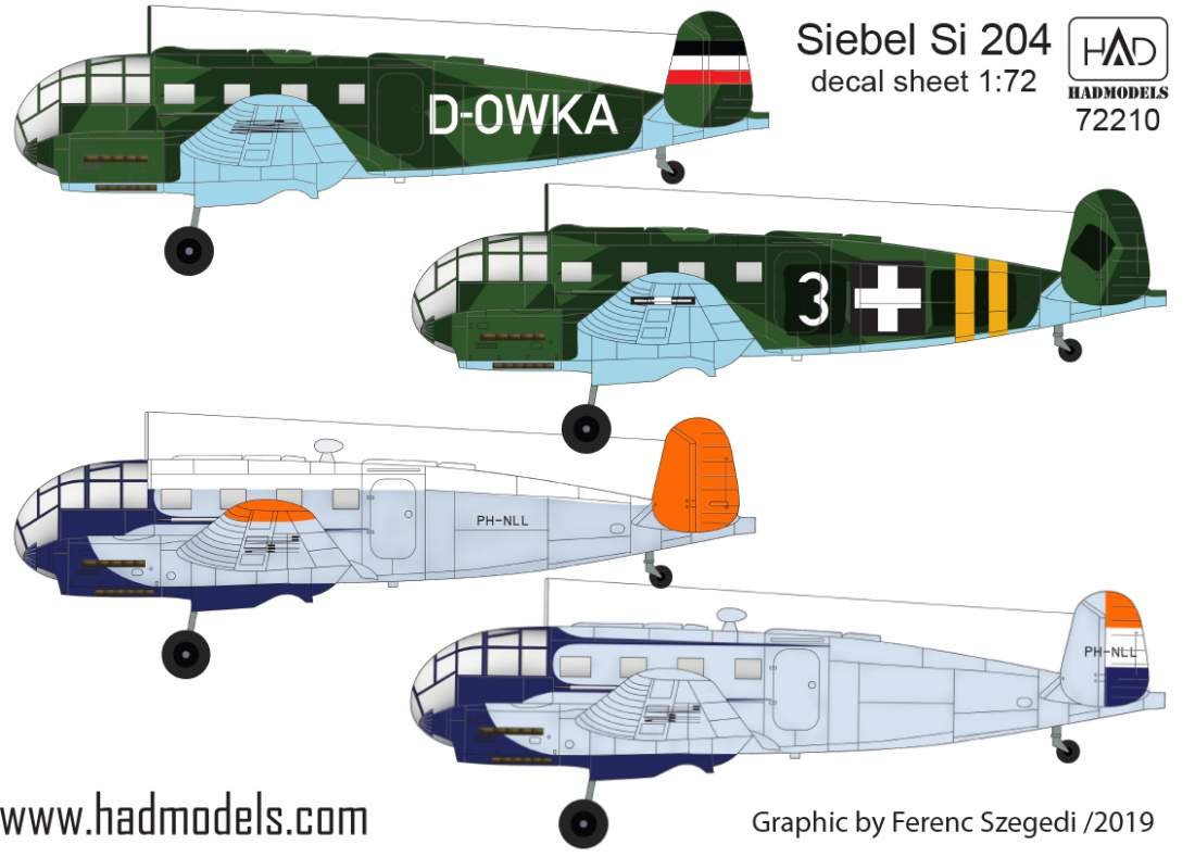 72210 Siebel Si 240 decal sheet 1:72
